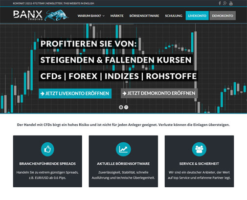 BANX Trading Screenshot