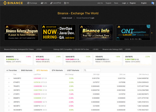 Binance Screenshot