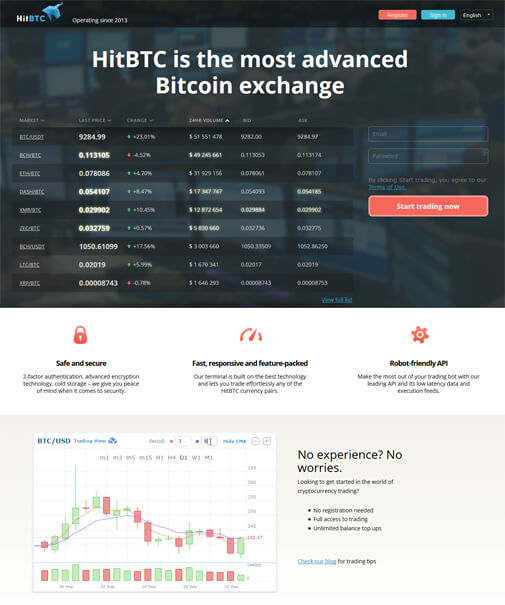 HitBTC Screenshot